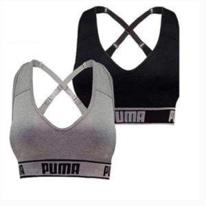 NEW PUMA Women's Seamless Sports Bra 2-Pack